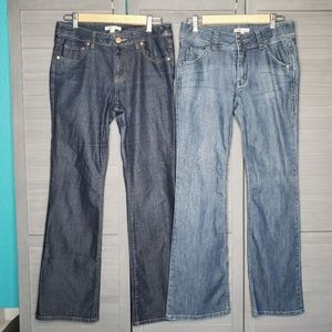 CAbi Jeans Two Pairs Dark Light 6 Boot Cut Womens